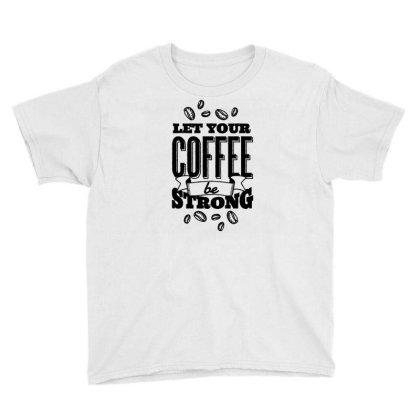 Calligraphic Coffee Youth Tee Designed By Igaart