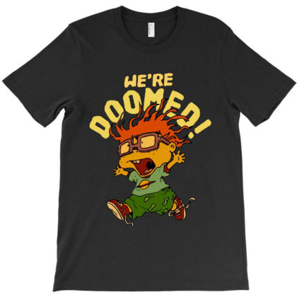 Funny Cartoon We're Doomed T-shirt Designed By Dampuot Apparel
