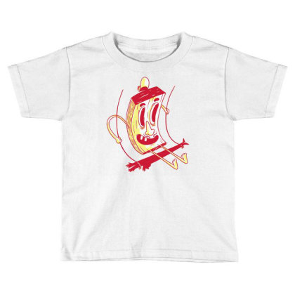 Character On Swing Toddler T-shirt Designed By Igaart