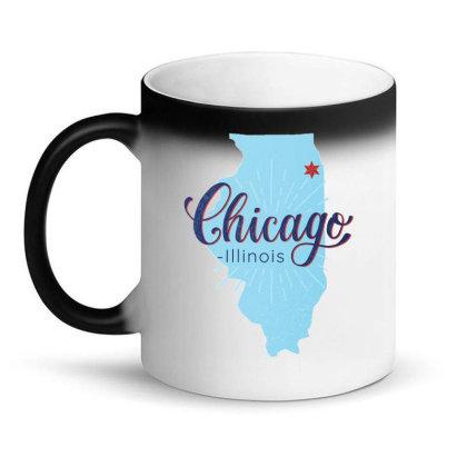 Chicago Illinois Map Magic Mug Designed By Igaart