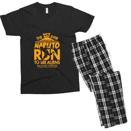 Naruto Run For Aliens Men's T-shirt Pajama Set Designed By Hebreuh