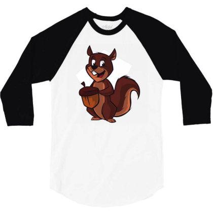 Chipmunk 3/4 Sleeve Shirt Designed By Igaart