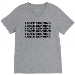 I Love Running I Hate Running V-Neck Tee   Artistshot