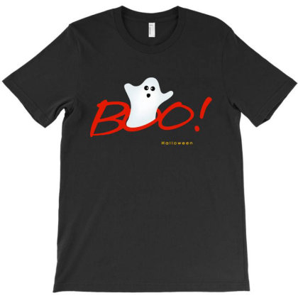 Boo Happy Halloween Ghost T-shirt Designed By Dampuot Apparel