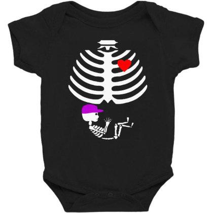 Baby Boy Skeleton Pregnancy Love Halloween Funny Baby Bodysuit Designed By Dampuot Apparel