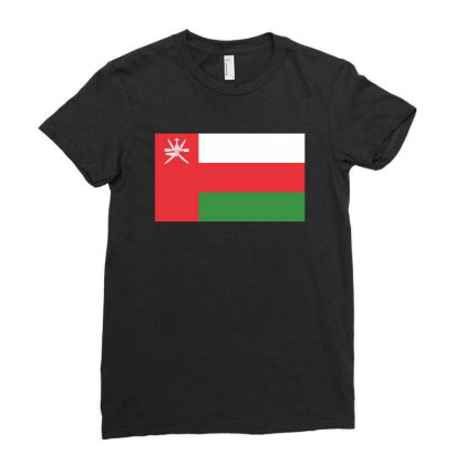 Oman Flag Ladies Fitted T-shirt Designed By Sengul