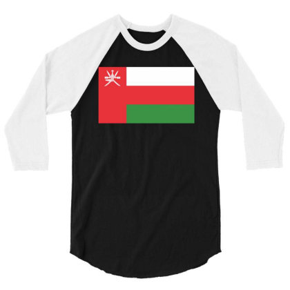 Oman Flag 3/4 Sleeve Shirt Designed By Sengul