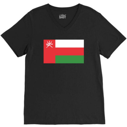 Oman Flag V-neck Tee Designed By Sengul