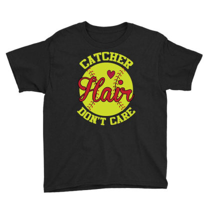 Catcher Hair Don't Care Youth Tee Designed By Iconshop