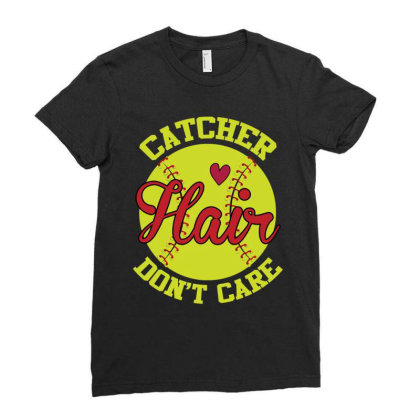 Catcher Hair Don't Care Ladies Fitted T-shirt Designed By Iconshop