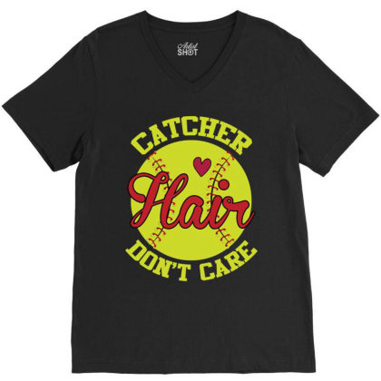 Catcher Hair Don't Care V-neck Tee Designed By Iconshop