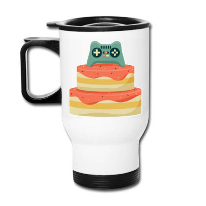 Controller Birthday Cake Travel Mug Designed By Igaart
