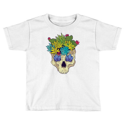 Crystal Cactus Skull Toddler T-shirt Designed By Igaart