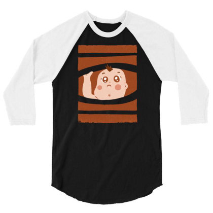 Curious Baby 3/4 Sleeve Shirt Designed By Igaart