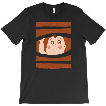 Curious Baby T-shirt Designed By Igaart