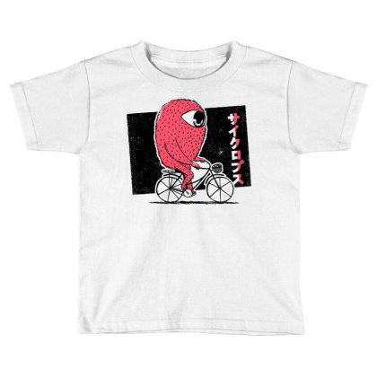 Cyclops Riding Bike Toddler T-shirt Designed By Igaart