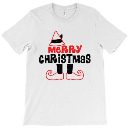 Elf Legs Merry Christmas T-shirt Designed By Ooredoo