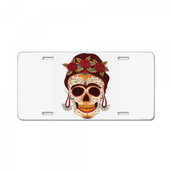day of the dead License Plate | Artistshot