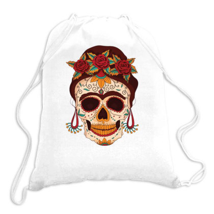 Day Of The Dead Drawstring Bags Designed By Igaart