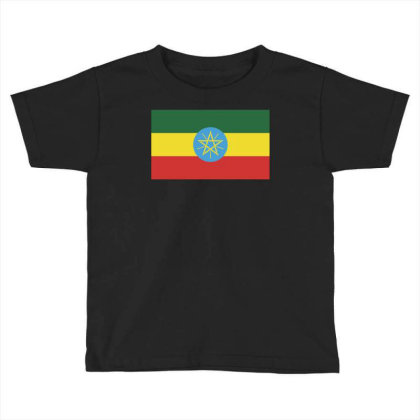 Ethiopia Flag Toddler T-shirt Designed By Sengul