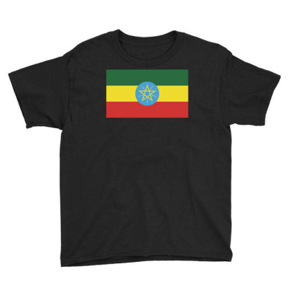 Ethiopia Flag Youth Tee Designed By Sengul