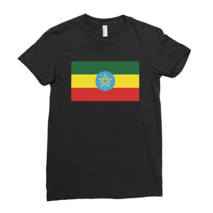 Ethiopia Flag Ladies Fitted T-shirt Designed By Sengul