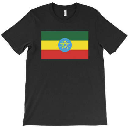 Ethiopia Flag T-shirt Designed By Sengul