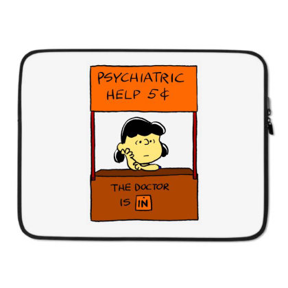 Lucy Van Pelt: The Doctor Is In Laptop Sleeve Designed By Pop Cultured