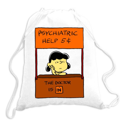 Lucy Van Pelt: The Doctor Is In Drawstring Bags Designed By Pop Cultured