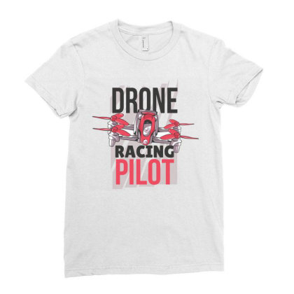 Drone Racing Pilot Ladies Fitted T-shirt Designed By Igaart