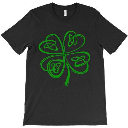 Irish Shamrock Clover T-shirt Designed By Saranghe