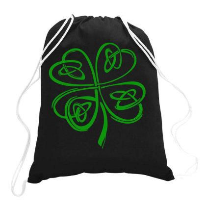 Irish Shamrock Clover Drawstring Bags Designed By Saranghe