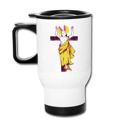 Easter Bunny Resurrection Travel Mug Designed By Igaart