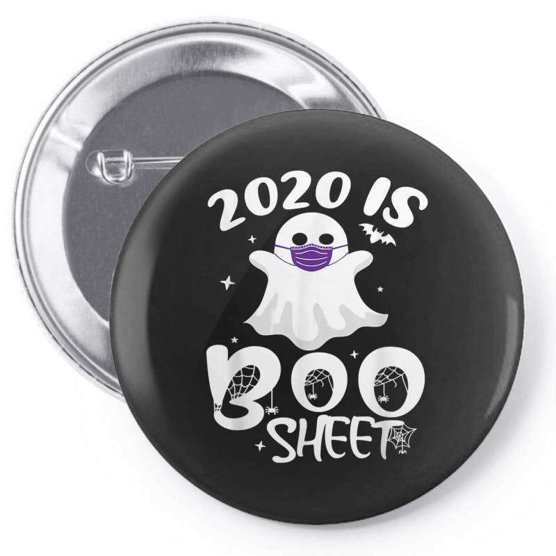 Custom 2020 Is Boo Sheet Halloween Pin-back Button By