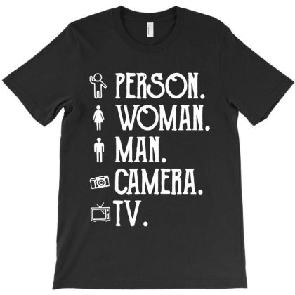 Person Woman Man Camera Tv T-shirt Designed By Kathrin Sutter