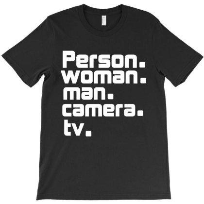 Person Woman Man Camera Tv Aufkleber T-shirt Designed By Kathrin Sutter