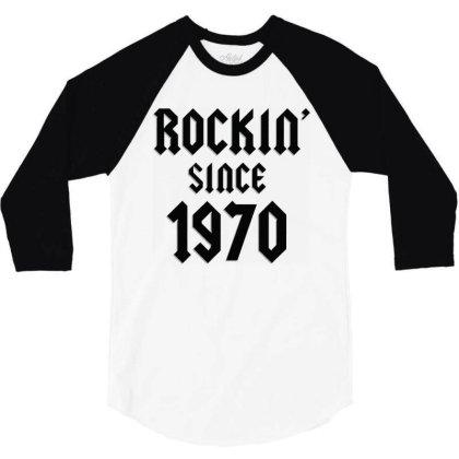 Classic Rock 1970   50th Birthday 3/4 Sleeve Shirt Designed By Balprut Store