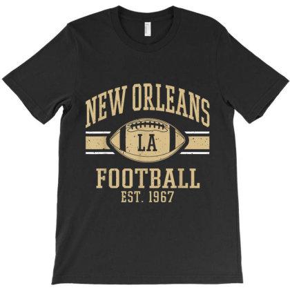 New Orleans Football Vintage Louisiana Nola Retro T-shirt Designed By Conco335@gmail.com