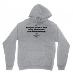 Rum - Everyone wants to hear every detail about your recent break up. Unisex Hoodie   Artistshot