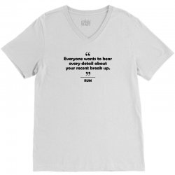 Rum - Everyone wants to hear every detail about your recent break up. V-Neck Tee   Artistshot