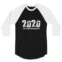 2020 the year for introverts 3/4 Sleeve Shirt | Artistshot
