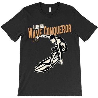 Wave Conqueror T-shirt Designed By Lumlum