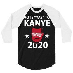 kanye 2020 3/4 Sleeve Shirt | Artistshot