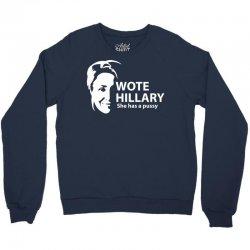 wote hillary Crewneck Sweatshirt | Artistshot
