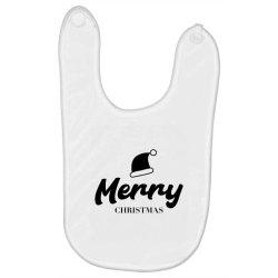 Merry Christmas - Christmas Gift Funny Baby Bibs | Artistshot