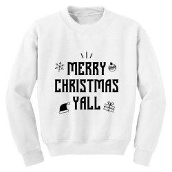 Merry Christmas Yall - Christmas Gift Funny Youth Sweatshirt | Artistshot
