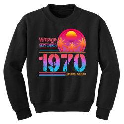 vintage september 1970 limited edition Youth Sweatshirt   Artistshot