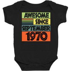 awesome since september 1970 Baby Bodysuit | Artistshot