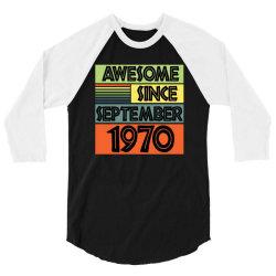 awesome since september 1970 3/4 Sleeve Shirt | Artistshot