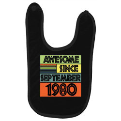awesome since september 1980 Baby Bibs | Artistshot
